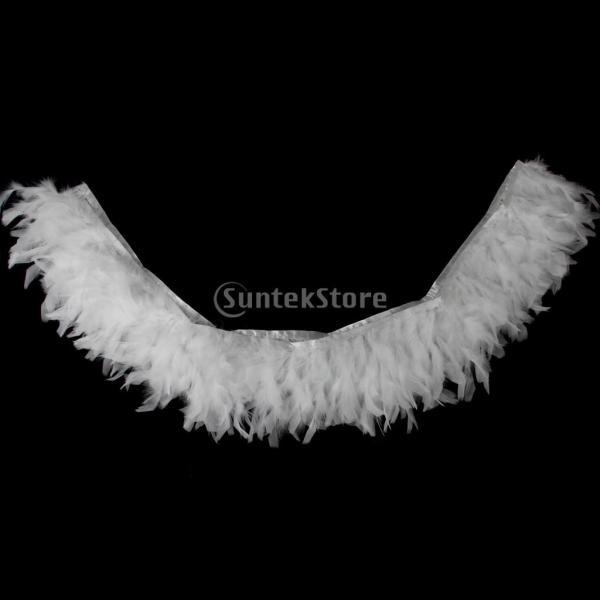 Prettyia 装飾用 ふわふわ 羽根 羽 ホワイト 帽子 衣装 手芸 材料 素材 羽飾り 仮装 ジュエリー  工芸品  アクセサリー
