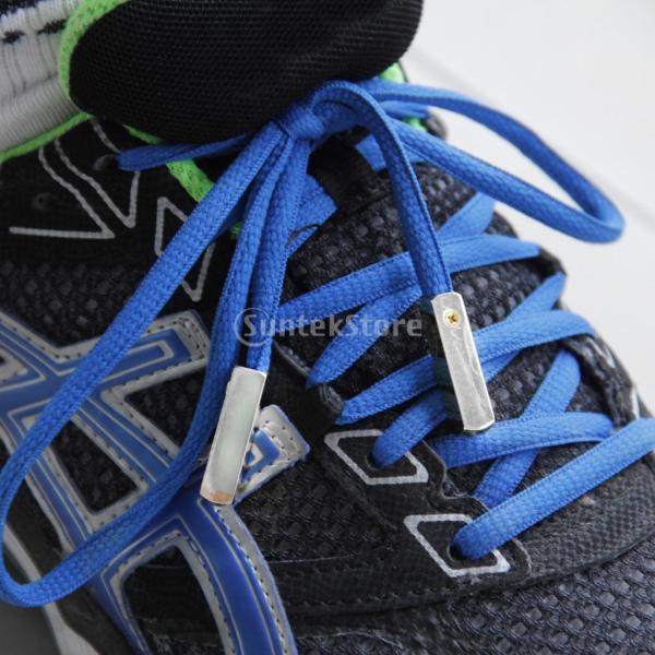 【footful】靴ひも 修理用金属ヒント ネジ付 靴ひも先飾り 靴ひも用アクセサリ (シルバー)
