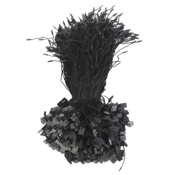 ノーブランド品 衣類品用 ナイロン プラスチック製 価格ラベル タグ ストリング 紐 ブラック 1000本