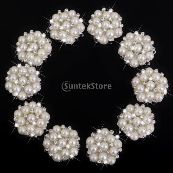 ノーブランド品 ビーズ アクセサリーパーツ 縫製 水晶ボタン キラキラ 手芸材料 クリスタル パールボタン|stk-shop