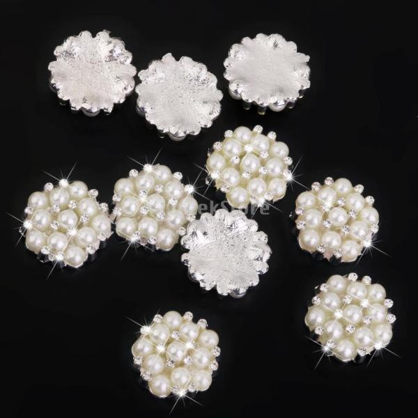 ノーブランド品 ビーズ アクセサリーパーツ 縫製 水晶ボタン キラキラ 手芸材料 クリスタル パールボタン|stk-shop|05