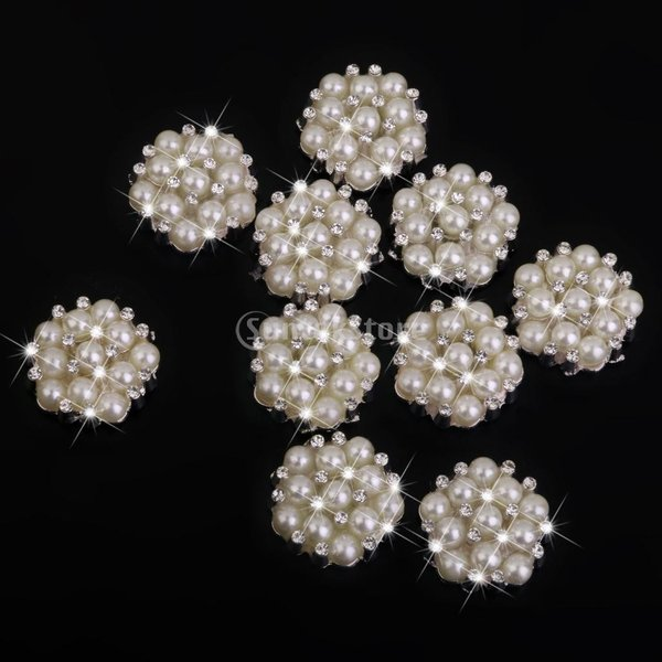 ノーブランド品 ビーズ アクセサリーパーツ 縫製 水晶ボタン キラキラ 手芸材料 クリスタル パールボタン|stk-shop|08