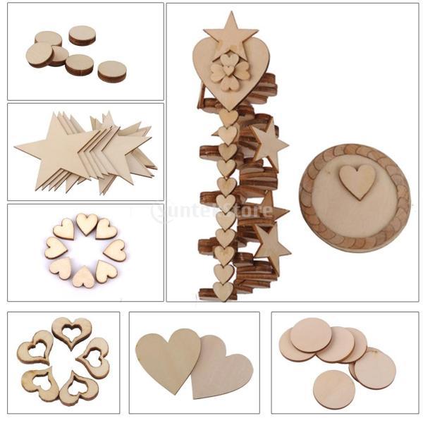 品】人気 木材チップ 結婚式 パーティー 撮影用 小物 カード 装飾 工芸品 DIY 木のスライス 丸型 30mm