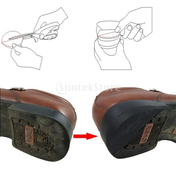 足の靴のヒールのヒントのDIY修理用品キットに3ペアの滑り止めゴムの接着剤