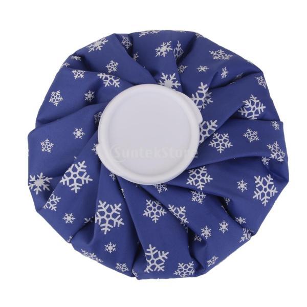 ノーブランド品 2個 お買い得 スポーツ 怪我 アイシング用 氷嚢 アイスバッグ コールドパック 9インチ 雪の結晶柄 (ロイヤルブルー) stk-shop 04