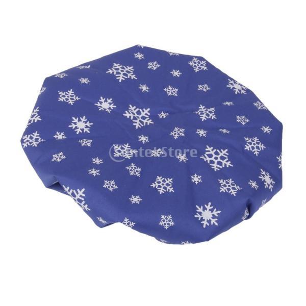 ノーブランド品 2個 お買い得 スポーツ 怪我 アイシング用 氷嚢 アイスバッグ コールドパック 9インチ 雪の結晶柄 (ロイヤルブルー) stk-shop 06