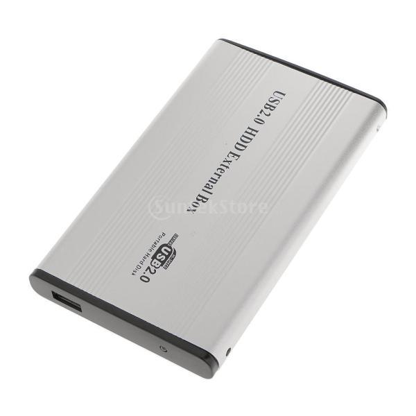 ノーブランド品 2セット USB2.0  IDE外部 2.5イン SSD HDD ハードドライブケース  キット スクリュードライバー - グレー|stk-shop|03