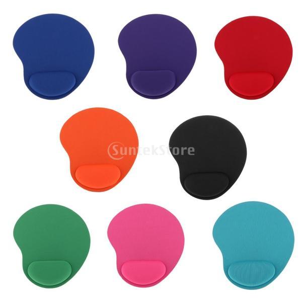 ノーブランド品  2個入り お買い得 PC/ラップトップ対応 人間工学 疲労を軽減 手首サポートマット マウスパッド ゲームに最適 3色選べる - レッド|stk-shop|03