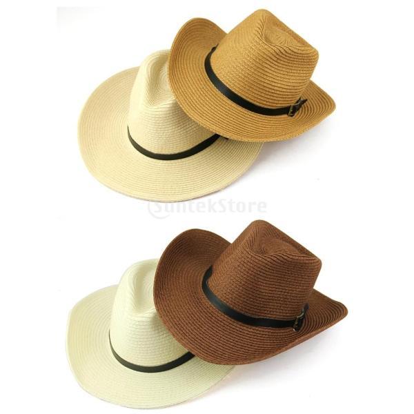 キッズ 男の子 西部 カウボーイ 太陽の帽子 キャップ ストローハット ギフト コーヒー わら 2個|stk-shop|02