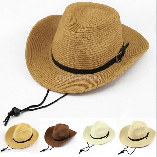 キッズ 男の子 西部 カウボーイ 太陽の帽子 キャップ ストローハット ギフト コーヒー わら 2個|stk-shop|03