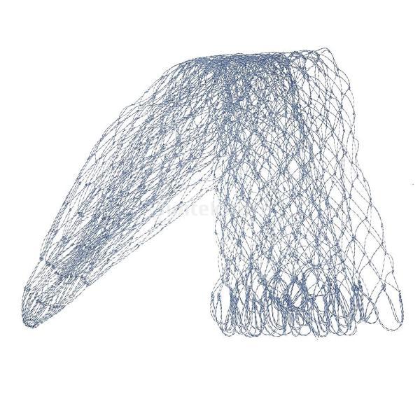 SONONIA  2個 お買い得  ポータブル ナイロン 折りたたみ 釣り ランディング ネット 菱形 メッシュ ランドディップ ネット