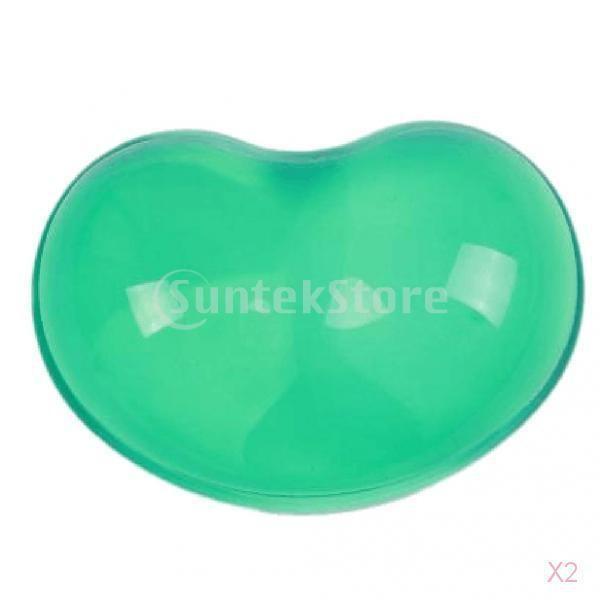 ハート型の柔らかいシリコーンの手首はクールな手の枕マウスパッドマットは緑かかっています|stk-shop