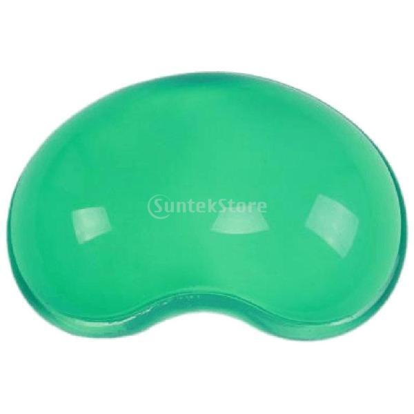 ハート型の柔らかいシリコーンの手首はクールな手の枕マウスパッドマットは緑かかっています|stk-shop|03