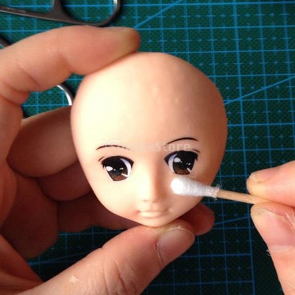 粘土 工芸用 2個 シリコーン 人形の顔の型 5枚 かわいい 目のステッカー
