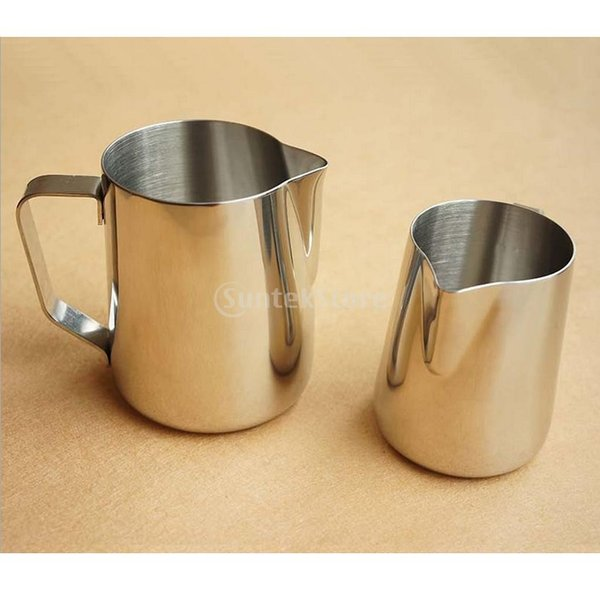 2個 真空断熱 コーヒーポット 保温冷水ボトル テーブル ポット 魔法瓶 と ステンレススチール製 大容量 ミルク泡立てジャグ ミルク泡立て器|stk-shop|15