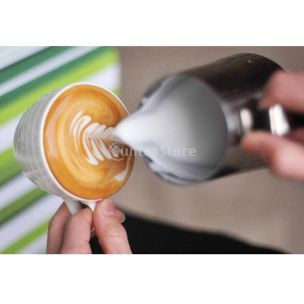 2個 真空断熱 コーヒーポット 保温冷水ボトル テーブル ポット 魔法瓶 と ステンレススチール製 大容量 ミルク泡立てジャグ ミルク泡立て器|stk-shop|16