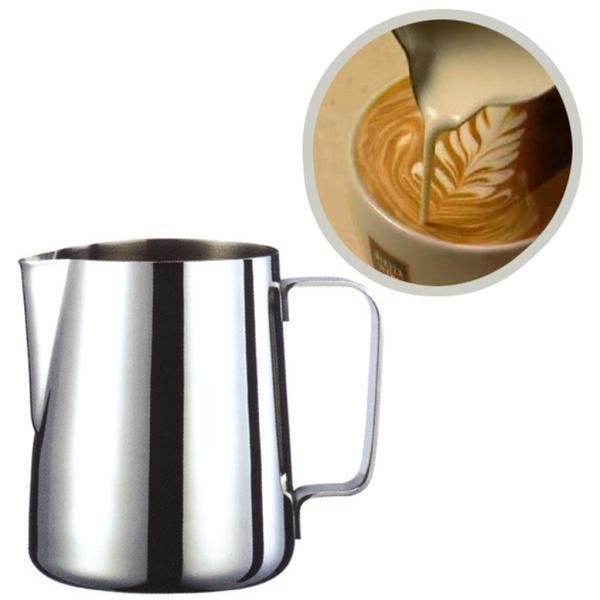 2個 真空断熱 コーヒーポット 保温冷水ボトル テーブル ポット 魔法瓶 と ステンレススチール製 大容量 ミルク泡立てジャグ ミルク泡立て器|stk-shop|04