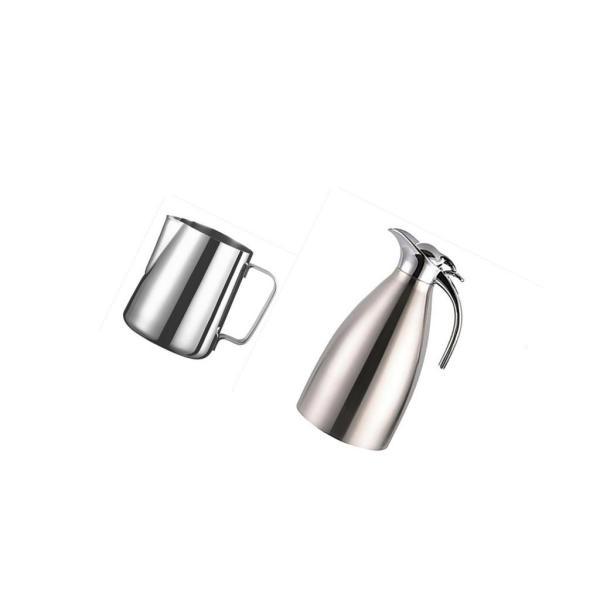 2個 真空断熱 コーヒーポット 保温冷水ボトル テーブル ポット 魔法瓶 と ステンレススチール製 大容量 ミルク泡立てジャグ ミルク泡立て器|stk-shop|08