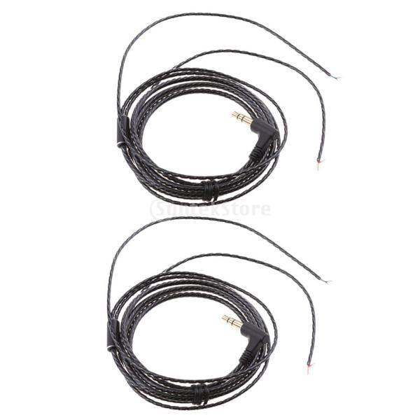 IPOTCH リケーブル 2本セット 交換 オーディオケーブル 修理ワイヤー イヤホン DIY 標準3.5mm