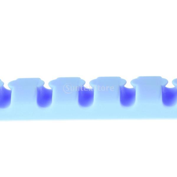 Perfk 2ピース ケーブル ワインダー イヤホンコード オーガナイザー ワイヤー 収納 シリコン ホルダークリップ 耐久性