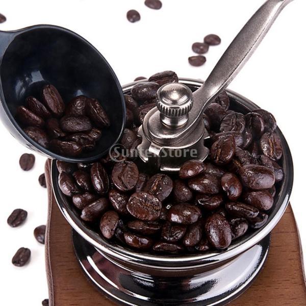 コーヒーミル スプーン付き 手動 手挽き 木製 手動ミル アンティーク調 コーヒー豆の香りを楽しみ|stk-shop|07