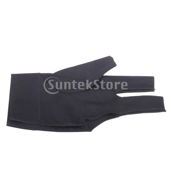 プロフェッショナル ビリヤード 左 3フィンガー グローブ 専用手袋 ブラックとグレー 4枚セット|stk-shop|11