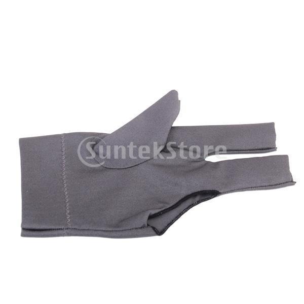 プロフェッショナル ビリヤード 左 3フィンガー グローブ 専用手袋 ブラックとグレー 4枚セット|stk-shop|12
