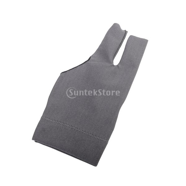 プロフェッショナル ビリヤード 左 3フィンガー グローブ 専用手袋 ブラックとグレー 4枚セット|stk-shop|13