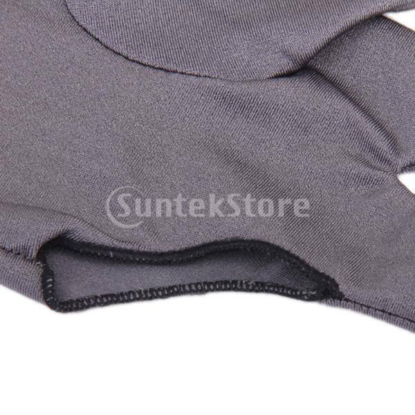 プロフェッショナル ビリヤード 左 3フィンガー グローブ 専用手袋 ブラックとグレー 4枚セット|stk-shop|14