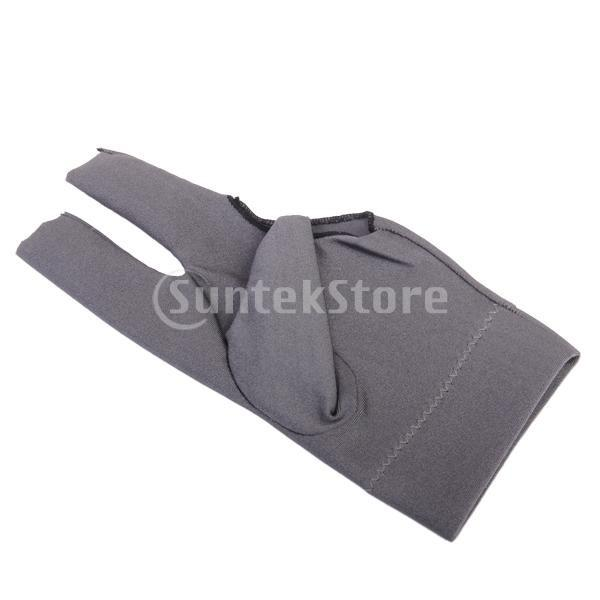 プロフェッショナル ビリヤード 左 3フィンガー グローブ 専用手袋 ブラックとグレー 4枚セット|stk-shop|04