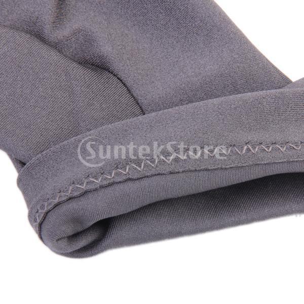 プロフェッショナル ビリヤード 左 3フィンガー グローブ 専用手袋 ブラックとグレー 4枚セット|stk-shop|05