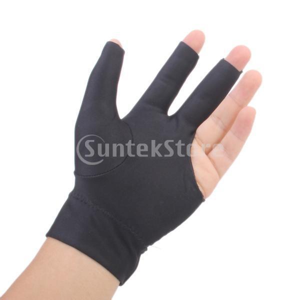 プロフェッショナル ビリヤード 左 3フィンガー グローブ 専用手袋 ブラックとグレー 4枚セット|stk-shop|07