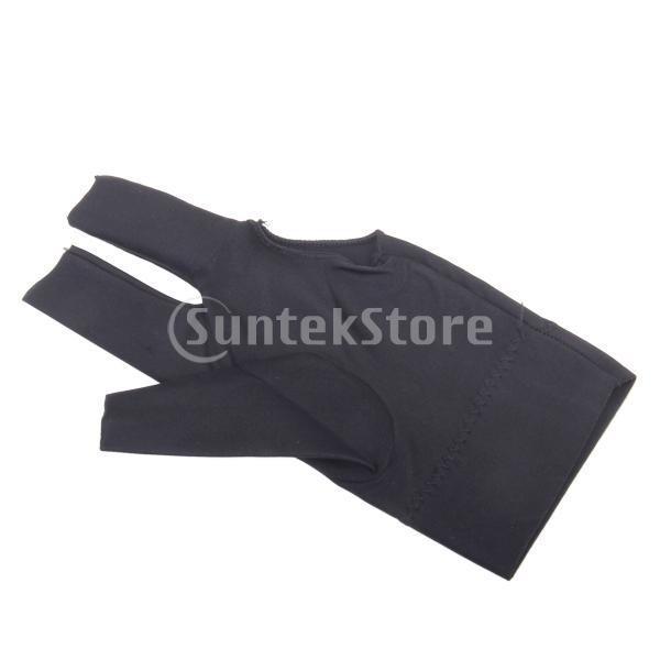プロフェッショナル ビリヤード 左 3フィンガー グローブ 専用手袋 ブラックとグレー 4枚セット|stk-shop|08