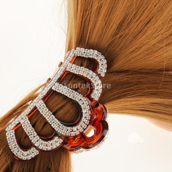 Fenteer クリップ ヘアアクセサリー 髪飾り 爪 留め金 ホルダー 2個入り 全2色パターン  - 黒褐色