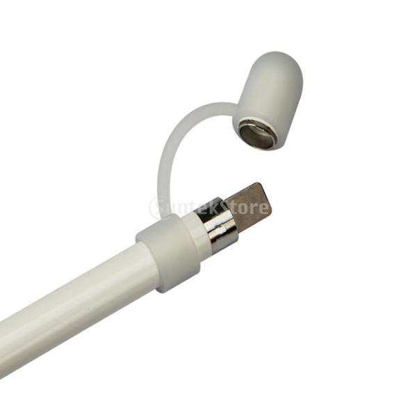 IPOTCH アップルペンシルに対応 2セット シリコンキャップ ケーブルテザー  USB充電ケーブル 便利性 柔軟 インストール簡単