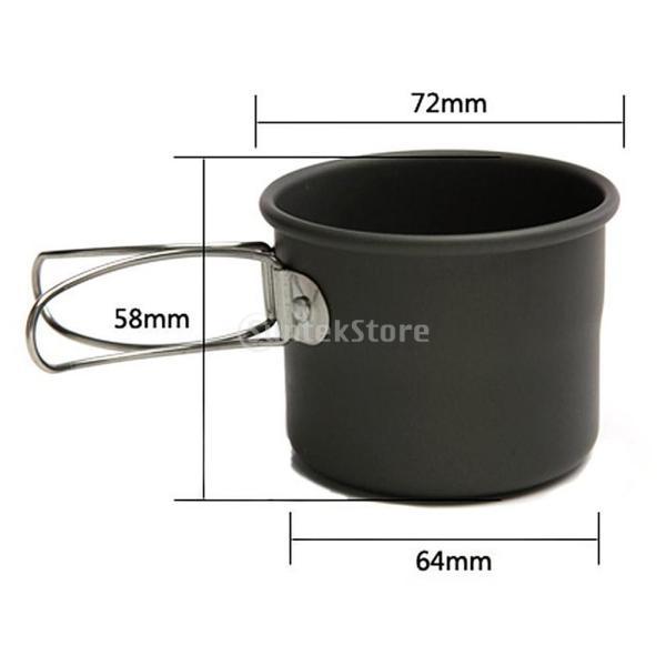 アルミ合金 1600ml アウトドア キャンプ ハイキング用 茶ケトル コーヒーポット 150ml  カップ マグカップ |stk-shop|14
