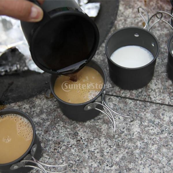 アルミ合金 1600ml アウトドア キャンプ ハイキング用 茶ケトル コーヒーポット 150ml  カップ マグカップ |stk-shop|15