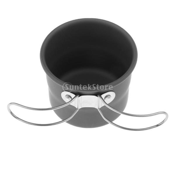 アルミ合金 1600ml アウトドア キャンプ ハイキング用 茶ケトル コーヒーポット 150ml  カップ マグカップ |stk-shop|17
