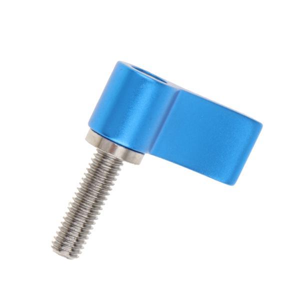 Perfk 調節可能 手締めねじ ハンドル DSLRカメラに対応 レッド+ブルー M5ねじ アルミニウム合金 軽量