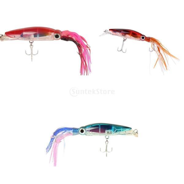 3個入り イカ釣りルアー 釣り ルアー フィッシング イカ イキイキ 高品質 ABSハードフック|stk-shop