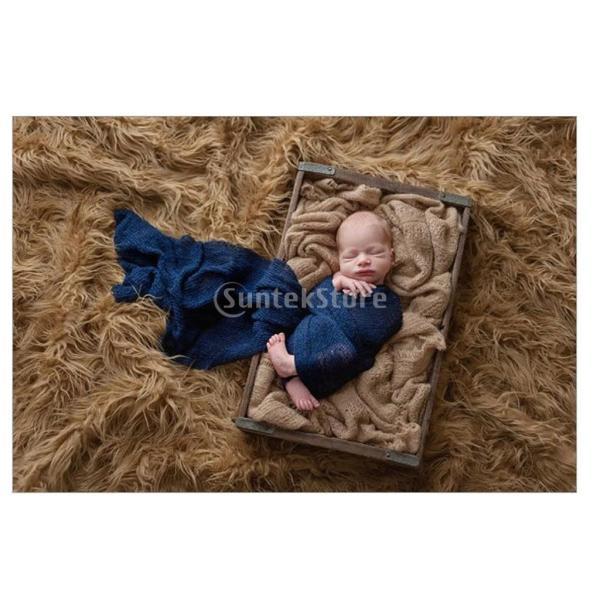 Prettyia 2本入り 柔らかい 幼児 赤ちゃん 写真 ストレッチ ニット ラップ 写真小道具