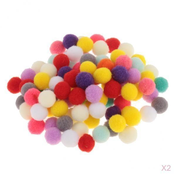フェルト製 球状 ポンポンボール 手作り工芸品 スクラップブッキング 飾り付け マルチカラー 約200個入り 全4サイズ - 10mm