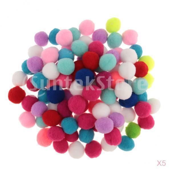フェルト製 球状 ポンポンボール 手作り工芸品 スクラップブッキング 飾り付け マルチカラー 約50個入り 全4サイズ - 30mm