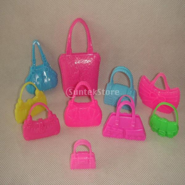 KOZEEY バービー 人形アクセサリ 12ペア ハイヒール ハンドバッグ(10個) ファッショナブル PVC stk-shop 02