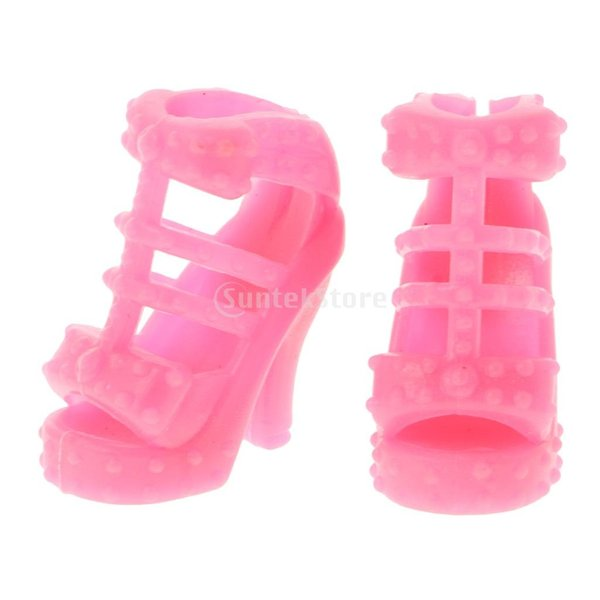 KOZEEY バービー 人形アクセサリ 12ペア ハイヒール ハンドバッグ(10個) ファッショナブル PVC stk-shop 16