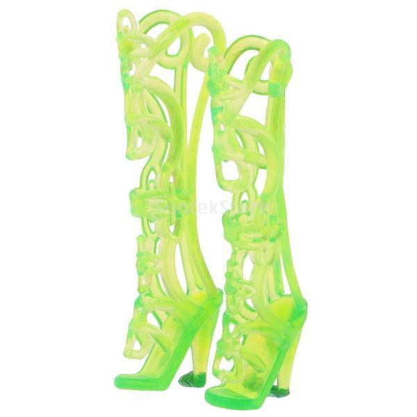 KOZEEY バービー 人形アクセサリ 12ペア ハイヒール ハンドバッグ(10個) ファッショナブル PVC stk-shop 05