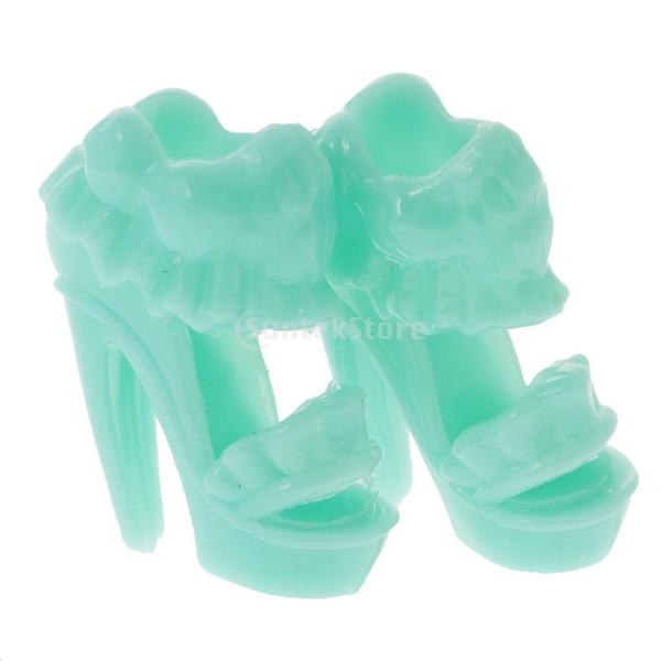 KOZEEY バービー 人形アクセサリ 12ペア ハイヒール ハンドバッグ(10個) ファッショナブル PVC stk-shop 08