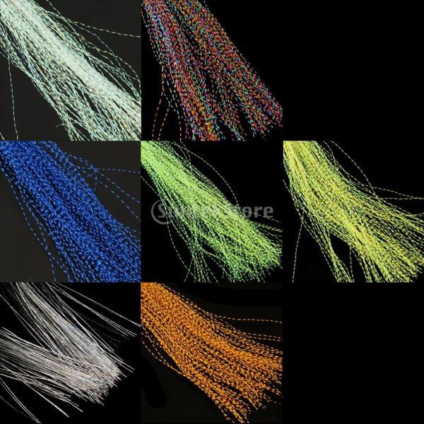 SunniMix タイイング 30cm長さ 300本入り フライ用 釣り 集魚  3-QX51 8-YLS1