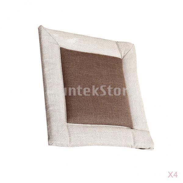 シートクッション(4個) 畳 座布団 ダイニングチェア インテリア ミニマリストスタイル 亜麻+綿 快適性