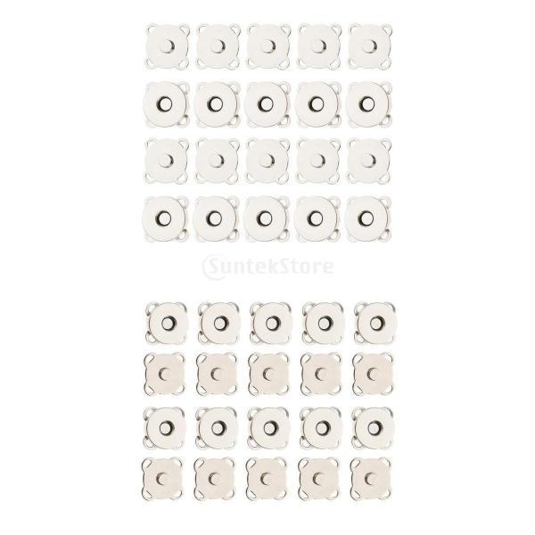 バッグ 磁気ボタン スナップ 衣類 縫製 工芸 20セット 14/18mm 2サイズ stk-shop 02